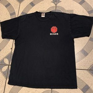 Vintage Ruger Graphic Logo Spellout Tee Sz XL